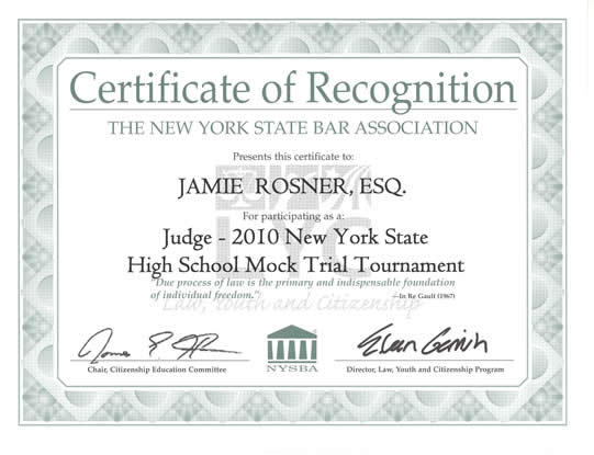 Jamie G. Rosner Judges Mock Trial - Keegan & Keegan, Ross ...