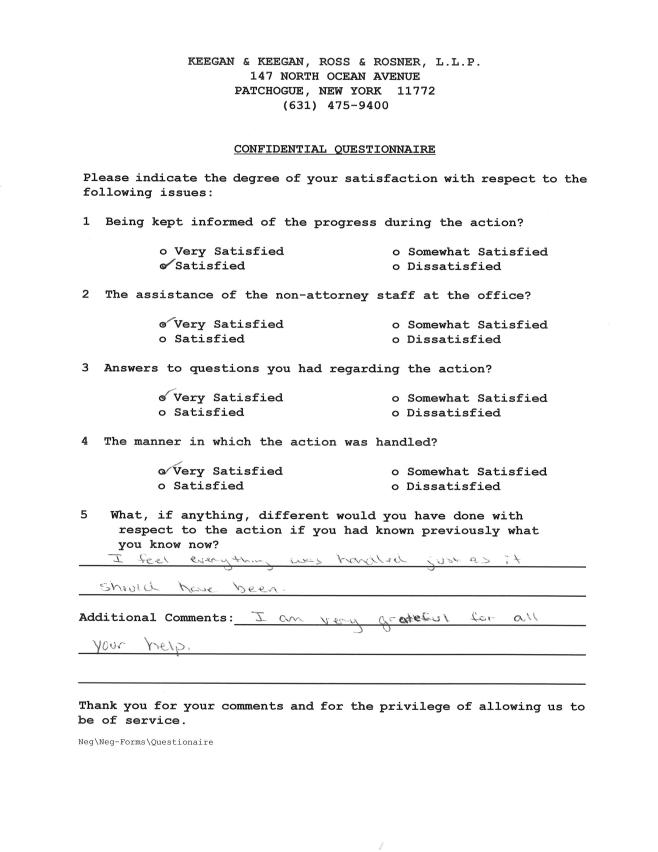 Questionaire 3-26-14