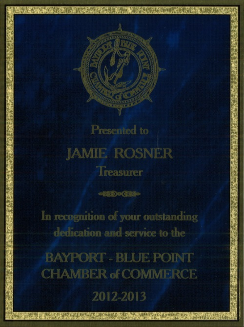 Bayport - Blue Point Chamber Award