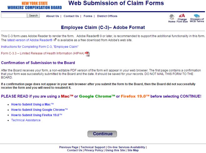New York Workers' Compensation Employee Claim Form - Keegan ...